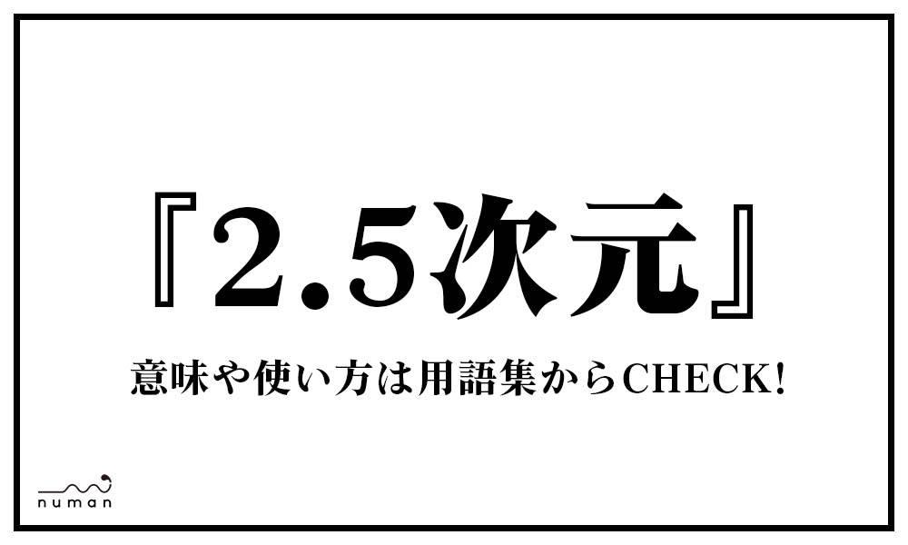 2.5次元(にいてんごじげん)