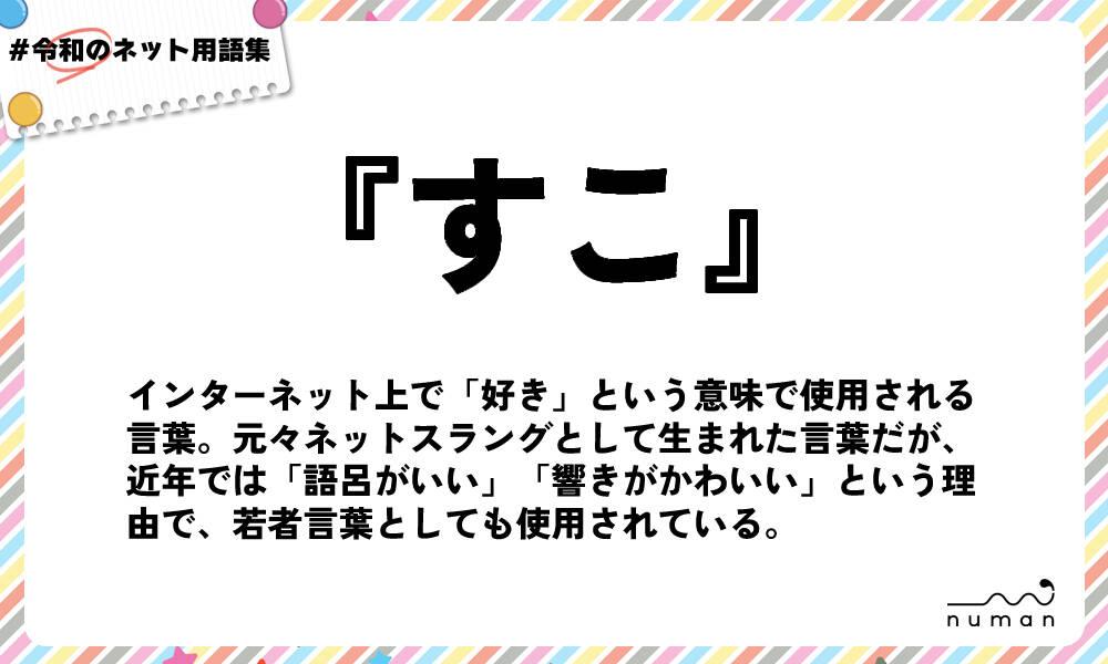 すこ(すこ)とは?(意味)~用語集|numan