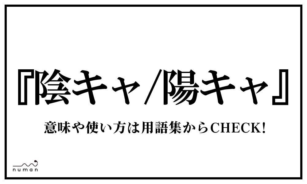 陰キャ/陽キャ(いんきゃ/ようきゃ)