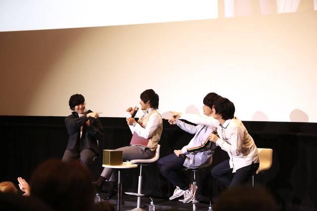 中井和哉、河本啓佑らがゲームに挑戦!新作アニメ『RobiHachi』先行上映会レポート!