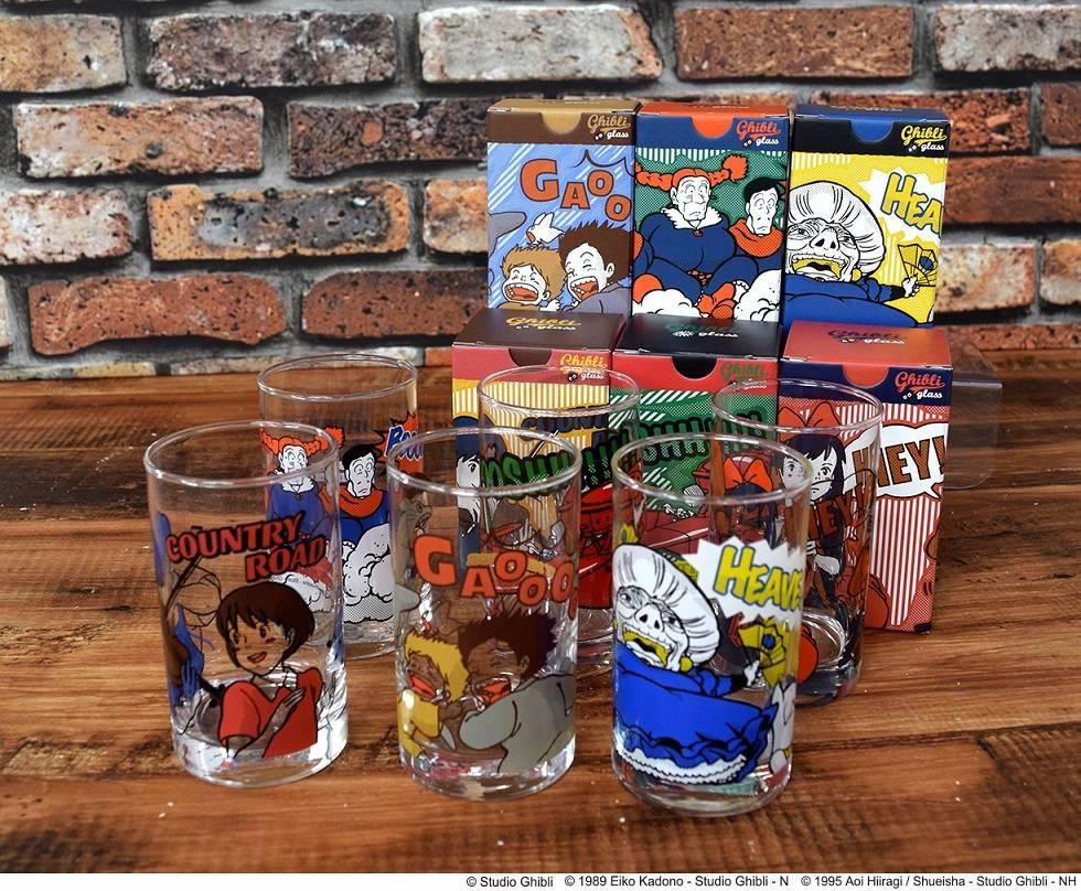 『となりのトトロ』や『紅の豚』などジブリ作品がアメコミ風のポップなデザインのグラスに!