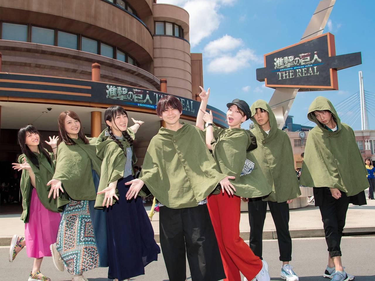梶裕貴、神谷浩史らがUSJに集結! 『進撃の巨人』アトラクションやレストランを堪能♪