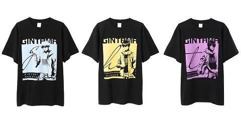 『銀魂』銀時・土方・高杉の描き下ろしTシャツ発売!写真風のプリントがかっこいい♪