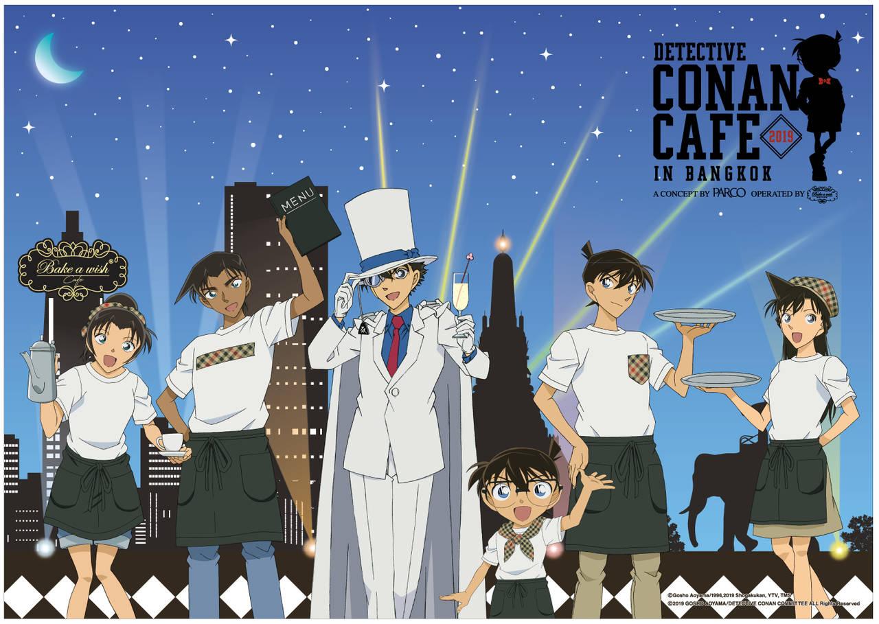 怪盗キッドや平次も♪ 『名探偵コナン』バンコクに期間限定のカフェがオープン♪