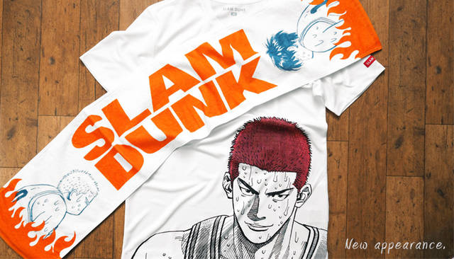 国民的バスケマンガ『SLAMDUNK(スラムダンク)』の公式Tシャツ、タオル、トートバッグが発売!
