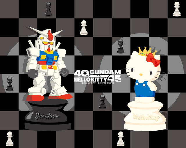 「ガンダム×ハローキティ」チェスデザインのグッズが全国のサンリオショップに新登場!