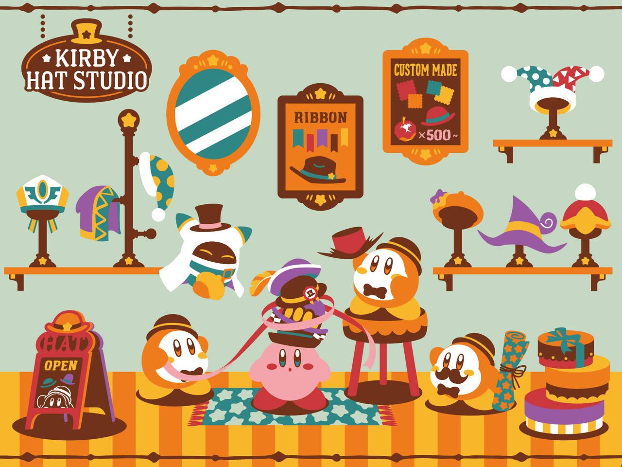 カービィ in 帽子屋さん♪ 『星のカービィ』一番くじ新登場! ぬいぐるみやルームライトなど豪華ラインナップ
