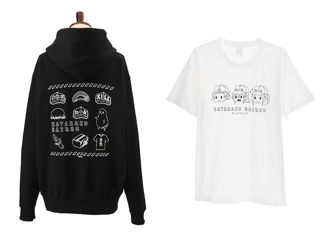 『はたらく細胞』パーカー&血小板Tシャツが登場! キャラアイコンや手書きタッチがキュート♪