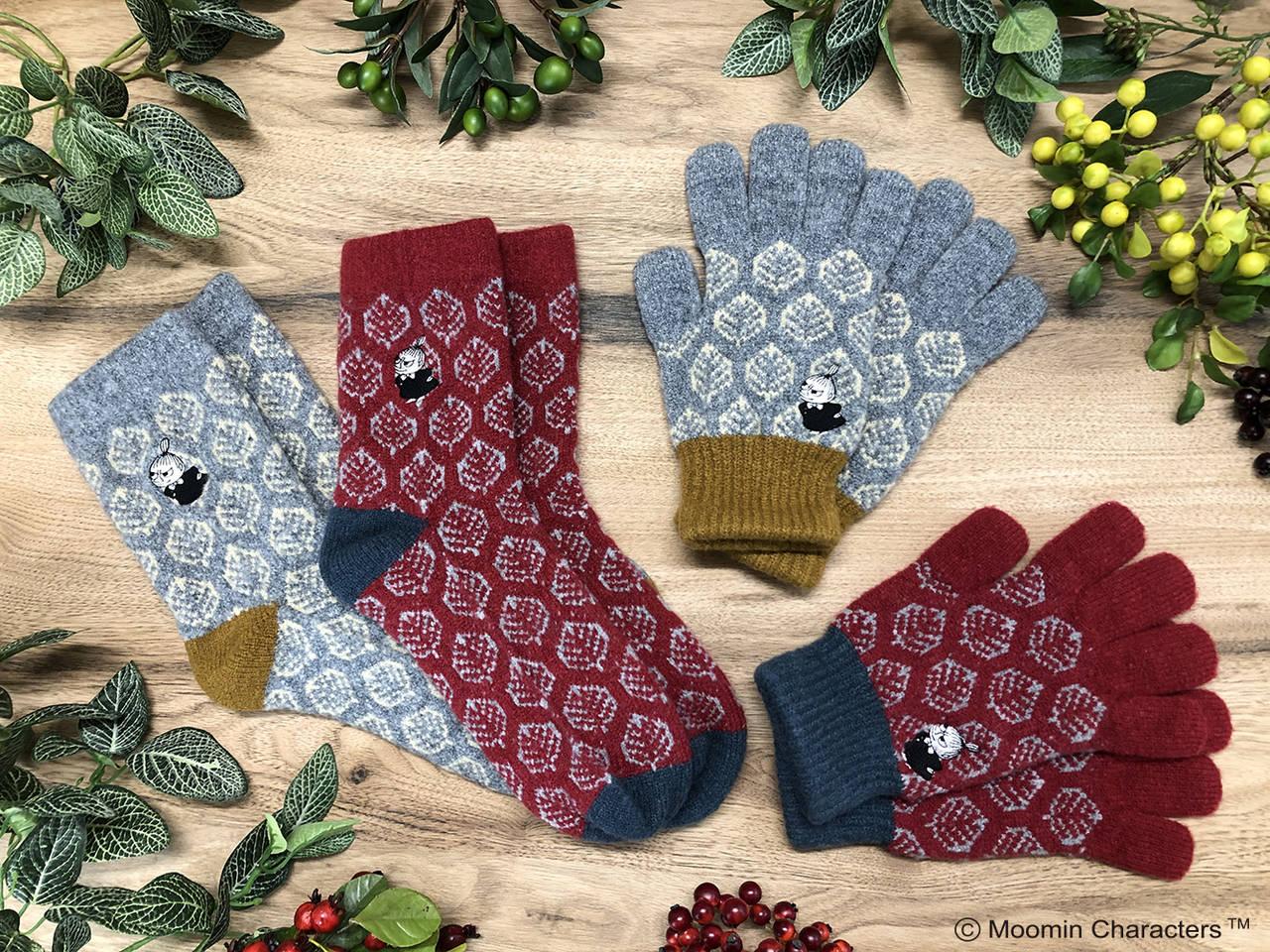 秋のシックな装いに♪ 『ムーミン』防寒アイテムが登場! 手袋やソックス、ベレー帽など