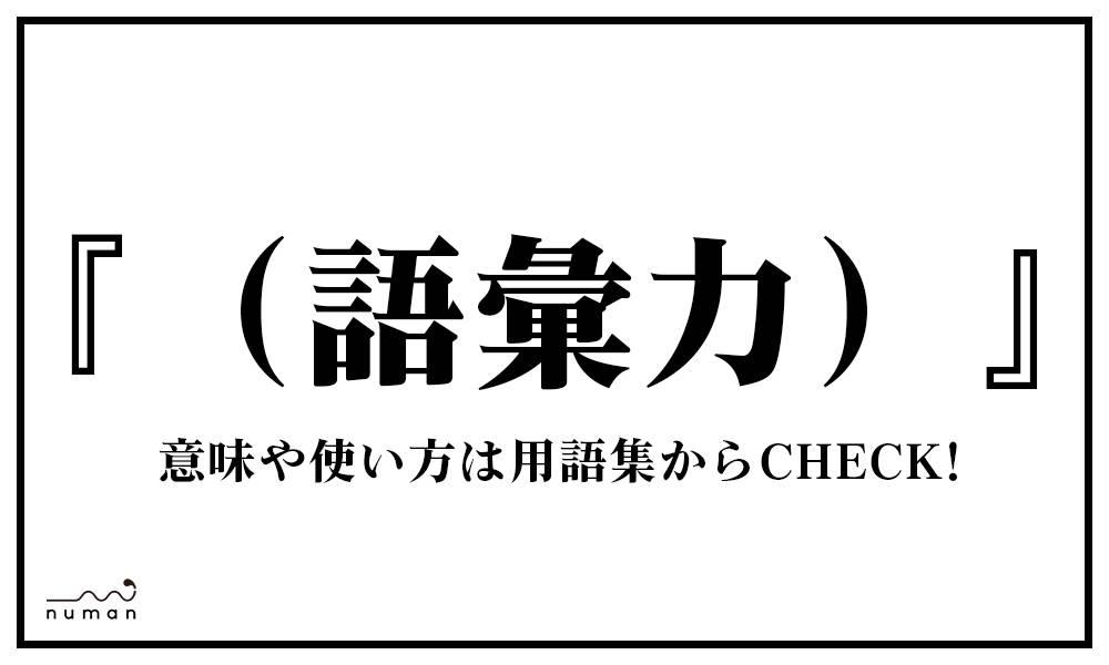 (語彙力)(ごいりょく)