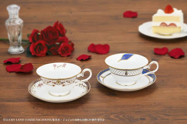 『ジョジョの奇妙な冒険 黄金の風』× 高級陶磁器メーカー「ノリタケ」! ティーカップ&ソーサーセットが登場♪