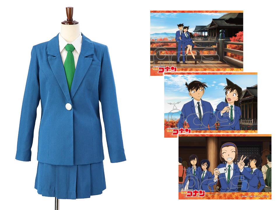 『名探偵コナン』帝丹高校制服のなりきり衣装が発売!新一と蘭の京都修学旅行写真つき