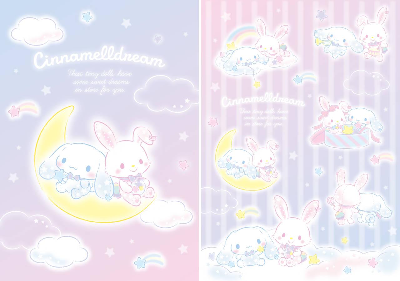 『シナモロール』×『ウィッシュミーメル』コラボ第2弾♪ 小さなぬいぐるみになったシナモンとメルの夢の世界♪