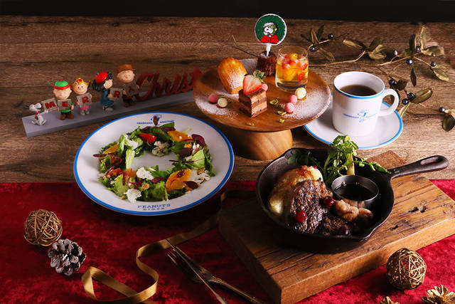 スヌーピーの仲間たちと楽しいクリスマス♪ 「PEANUTS Cafe」「PEANUTS DINER」でクリスマスメニュースタート♪