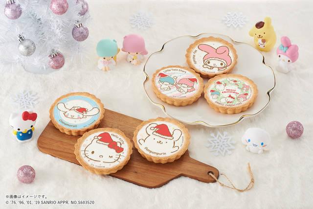 サンリオキャラクターズがクリスマスタルトに♪ ハローキティ、ポムポムプリン、マイメロディなど♪