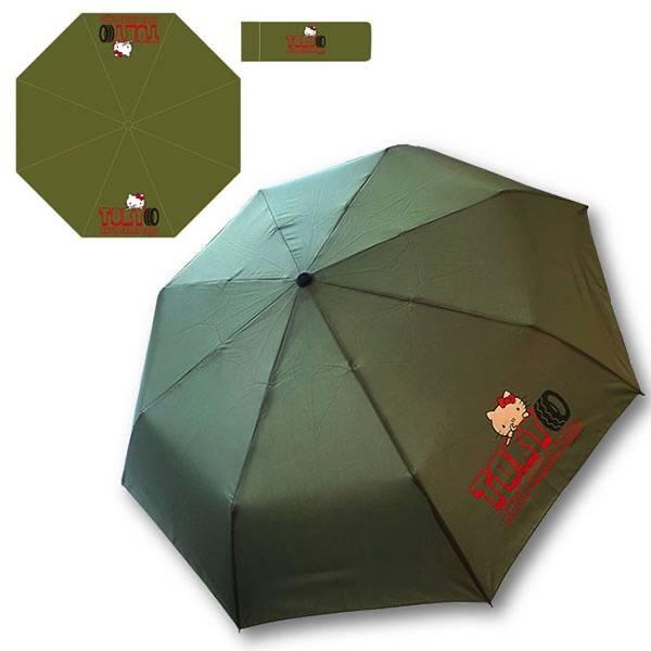 『ハローキティ』×「東京オートサロン」リールキーホルダーや折りたたみ傘、タイヤ型バウムクーヘンなど♪