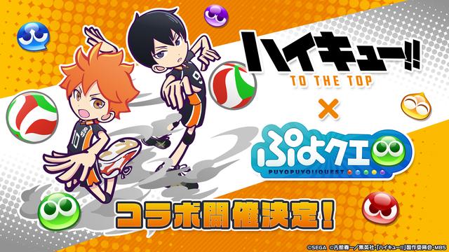 『ハイキュー!!』 ×『ぷよぷよ!!クエスト』コラボに登場するキャラクター&限定ストーリーのあらすじ公開!