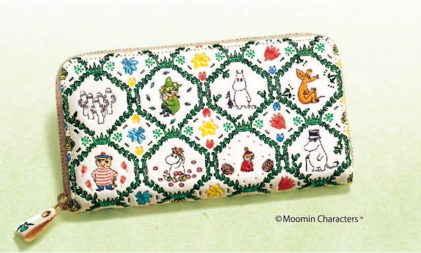 『ムーミン』日本伝統の革工芸アイテムに♪ 機能性ばっちりの長財布!