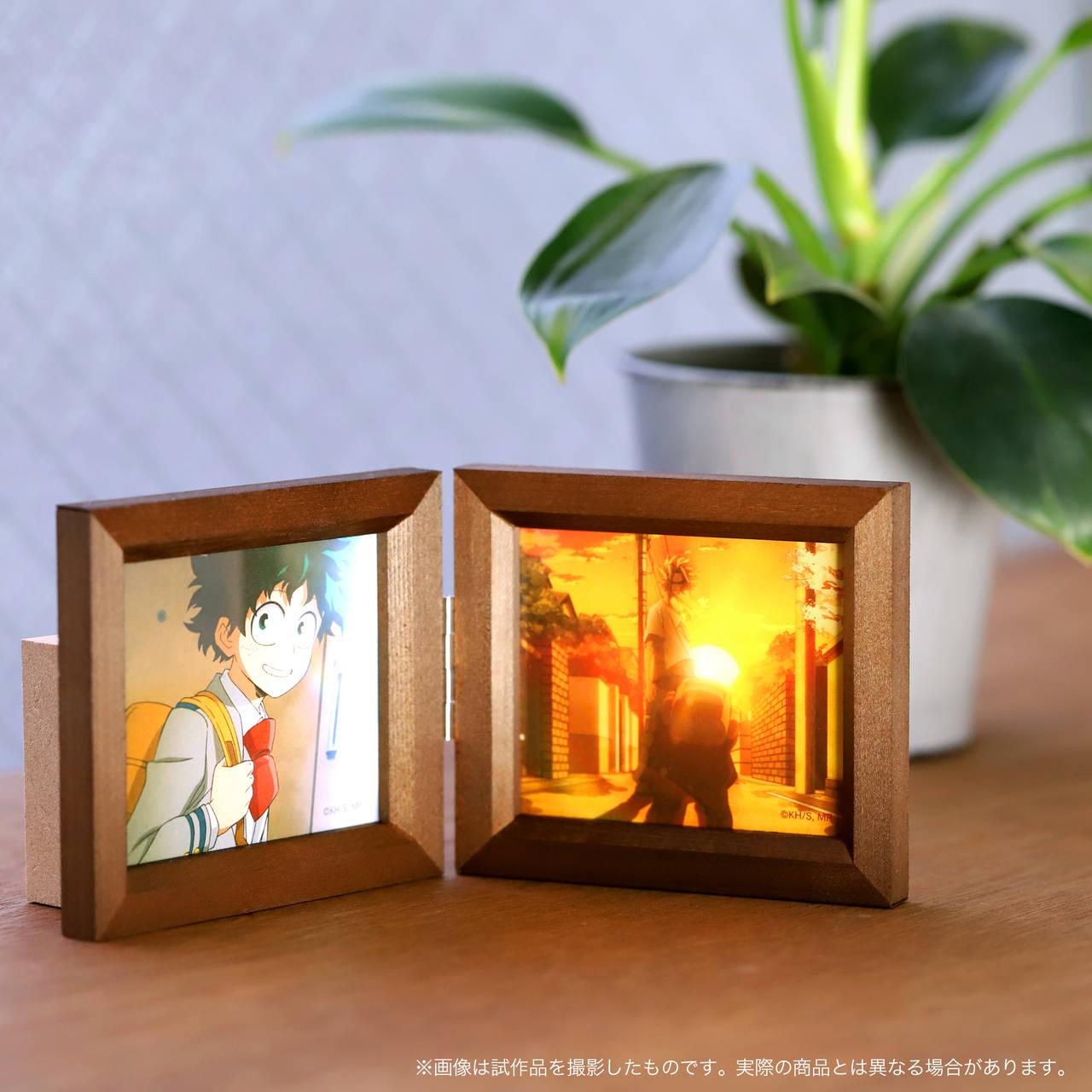 『僕のヒーローアカデミア』アニメBGMがオルゴールに! 木製フォトフレームタイプで飾りやすい♪