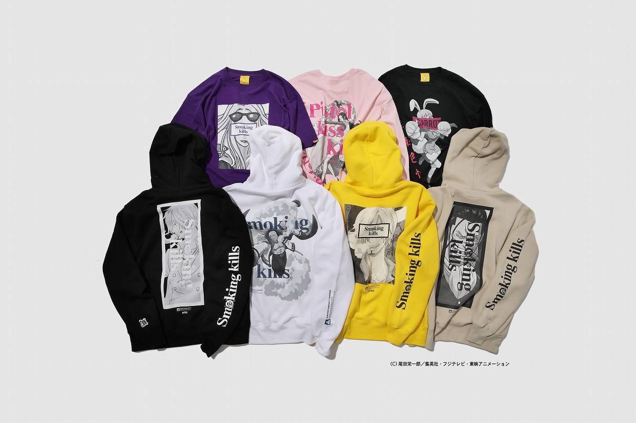 『ONE PIECE』×「#FR2」コラボアパレルグッズ登場! サンジやスモーカーを描いたTシャツ、パーカーなど♪