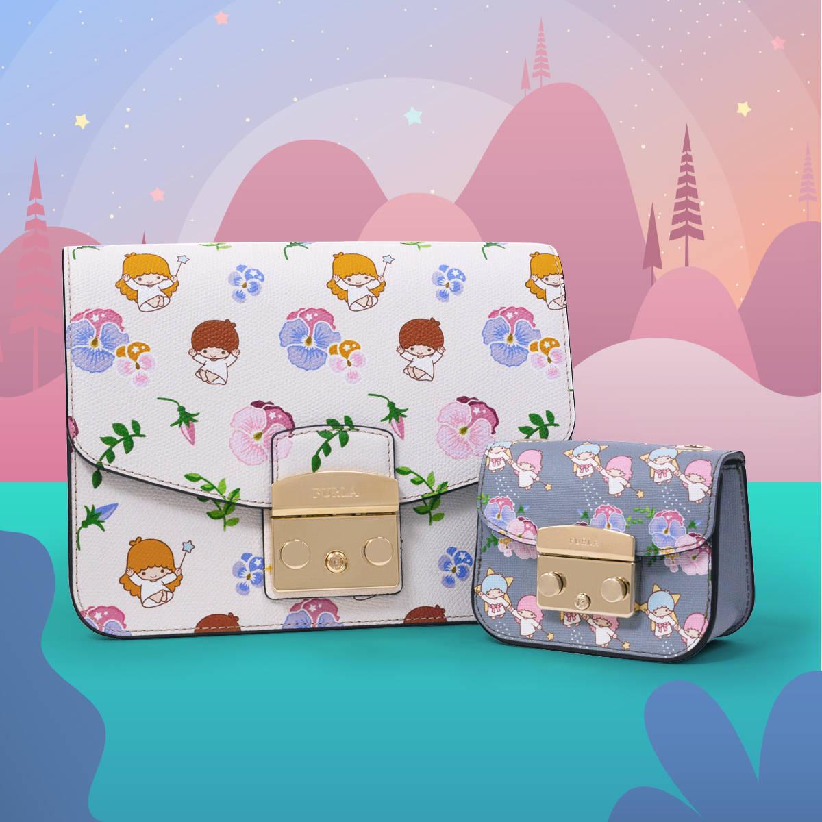 『リトルツインスターズ』×「フルラ」♪ キキ&ララと花柄デザインのバッグやカードケース、化粧ポーチなど♪
