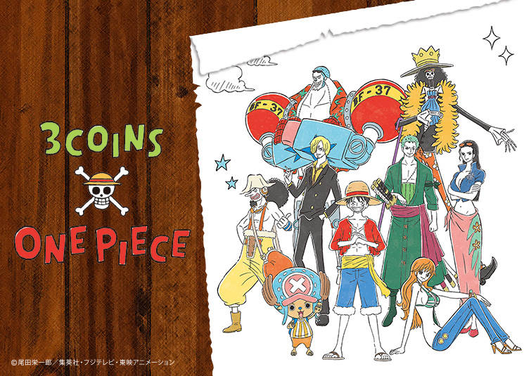 『3COINS×ONE PIECE』コラボアイテムが全56アイテムも登場! ポップ&キュートとシック&モノトーンの2テイスト♪