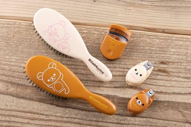 『リラックマ』×「貝印ビューティーツール」可愛いデザインのヘアブラシ、爪切り、アイラッシュカーラーなど♪