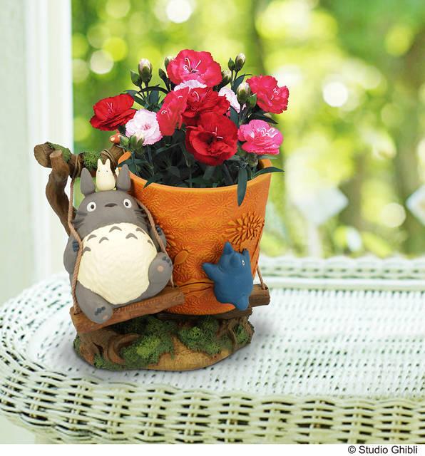 『となりのトトロ』『魔女の宅急便』のカーネーション&プランターセットが登場♪ 母の日は可愛い贈り物をしよう♪