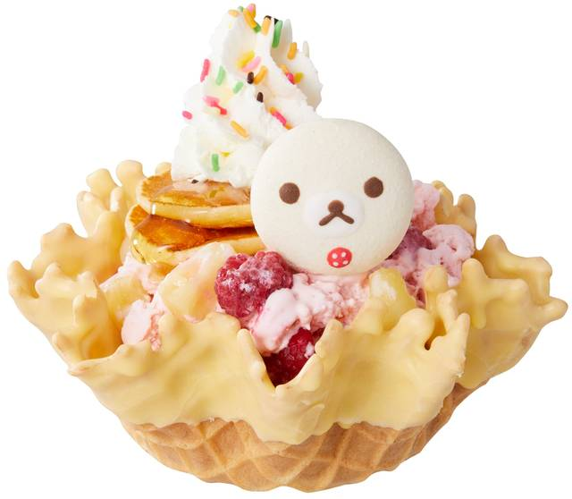 『リラックマ』が「コールド・ストーン・クリーマリー」とコラボ♪ フルーツたっぷりの可愛いアイス♪