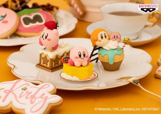 『星のカービィ』お菓子モチーフのフィギュア第2弾! ケーキとたわむれるカービィが可愛い♪