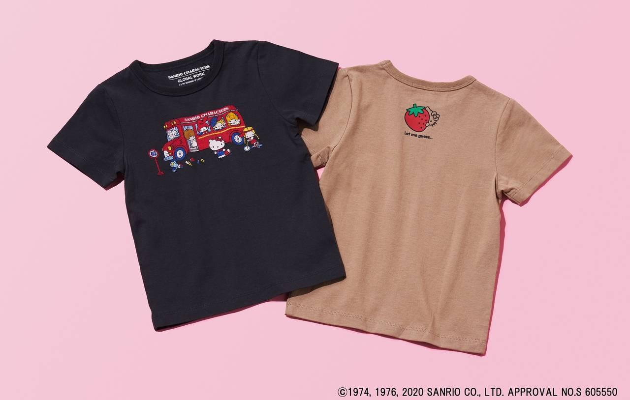『サンリオ』×「GLOBAL WORK」! ハローキティの可愛いグラフィックTシャツ登場♪