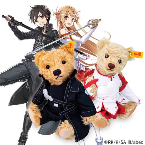 『ソードアート・オンライン』キリト&アスナが世界的テディベアとコラボ!