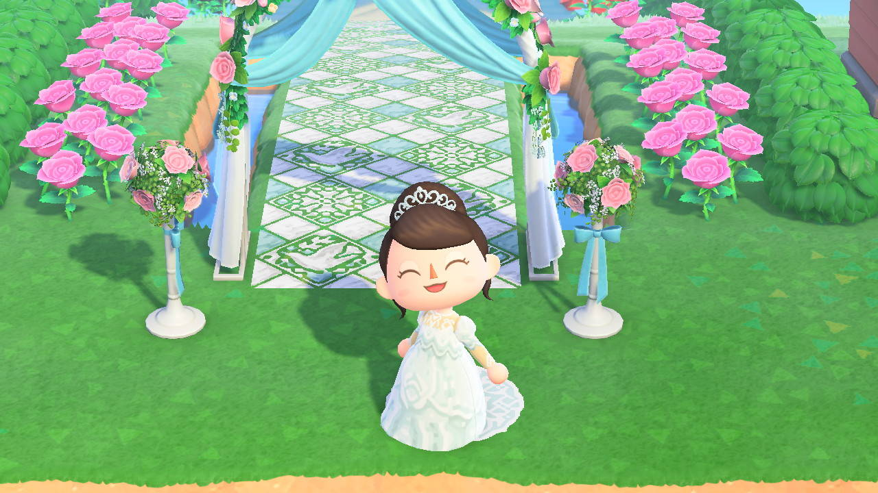 あつ 森 ウェディング ドレス