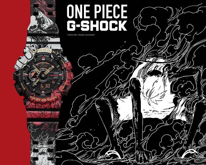 『ONE PIECE』が「G-SHOCK」とコラボ! ルフィの成長を時計に表現♪