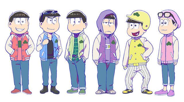 『おそ松さん』第3期新衣装が公開! 6つ子がおそろいの「スタジャン姿」に♪