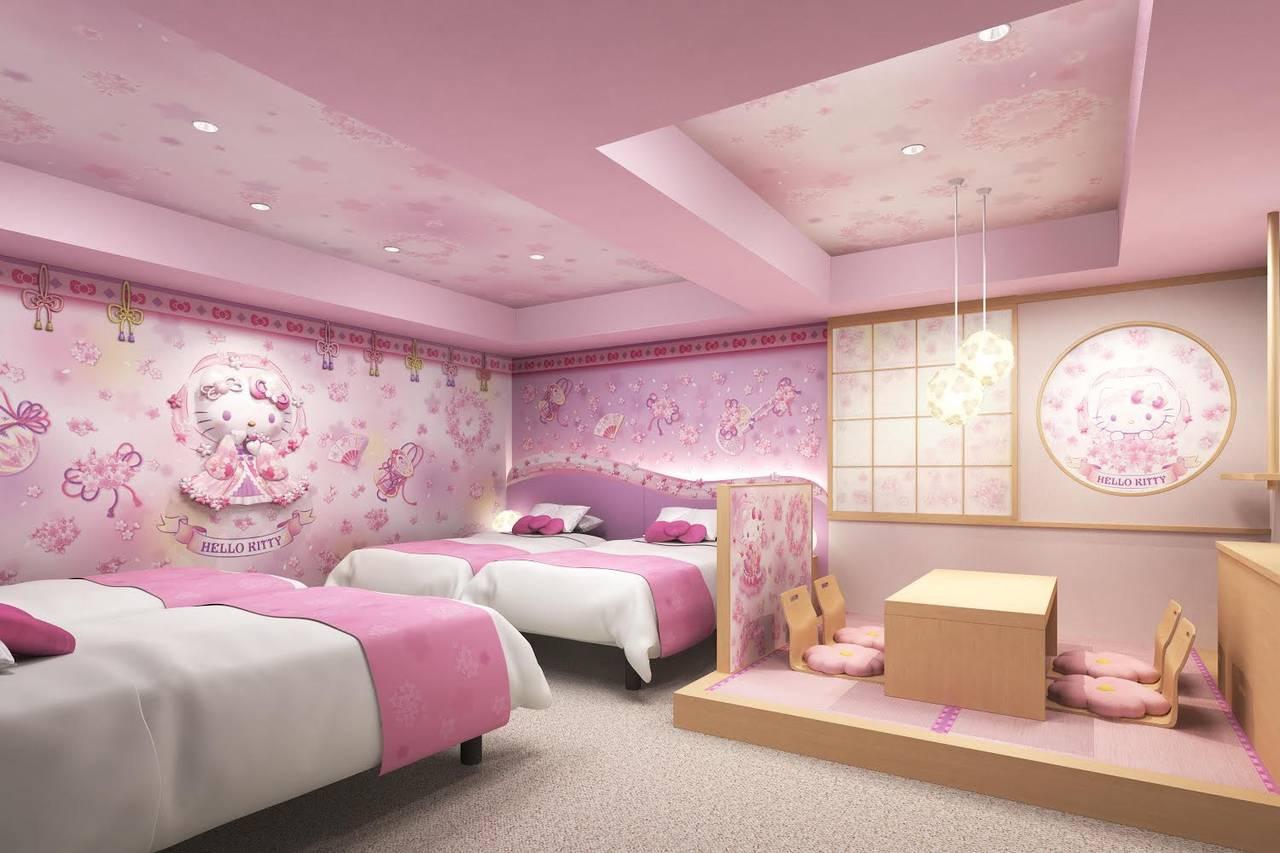 浅草東武ホテルに『ハローキティルーム』が登場! 和テイストの部屋を堪能しよう♪