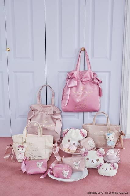 『リラックマ』が「Maison de FLEUR」とコラボ♪ フリルが可愛いバッグやポーチ♪