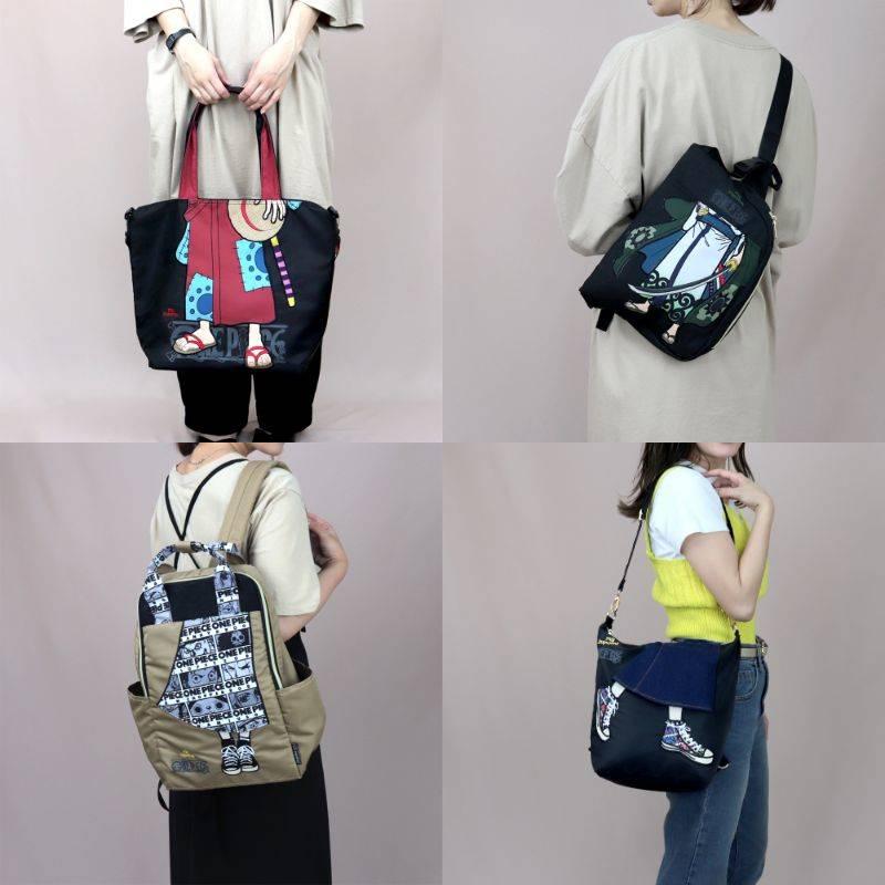 『ONE PIECE』個性派デザインの刺繍バッグが登場! ルフィやゾロの着物姿がかっこいい!