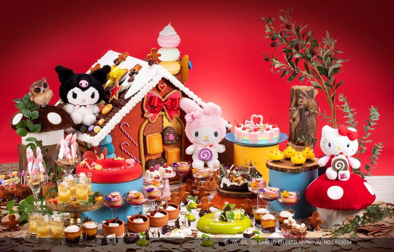 ヒルトン大阪で『ハローキティ』『マイメロディ』『クロミ』がティーパーティ♪ 魔法の森をイメージしたデザート登場♪