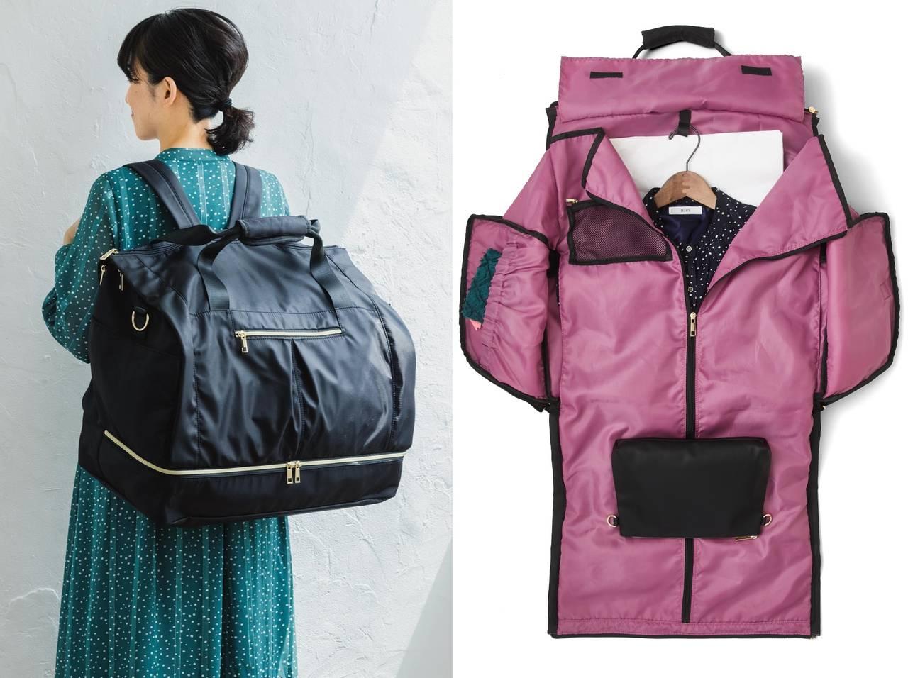 推し色でオシャレに♪ 超大容量・きれいめ遠征バッグ登場! ワンピースもパンプスも収納できる♪