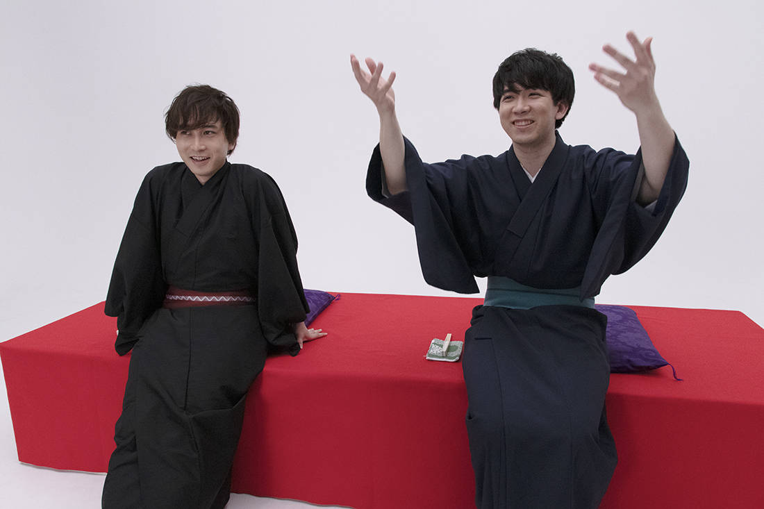 伊東健人&中島ヨシキの貴重なオフショットも!BL×落語『僕ら的には理想の落語』先行カット公開!