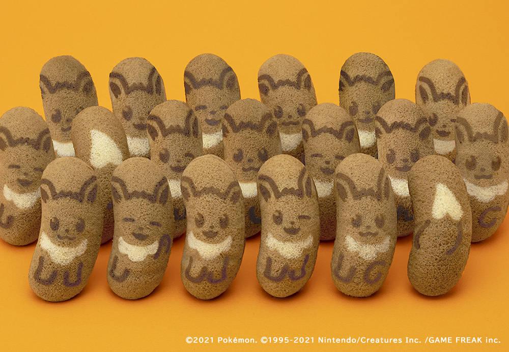 『ポケモン」イーブイ東京ばな奈 発売間近♪ 表情全6種類! もふもふ可愛いキャラメルモフアート味