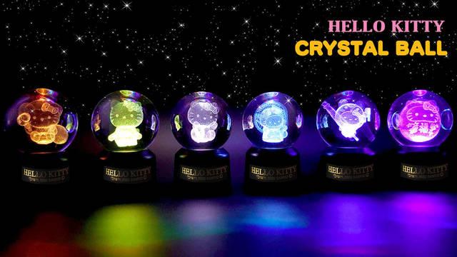 サンリオの縁起物♪ 『ハローキティ』光る3Dクリスタルボールが登場!