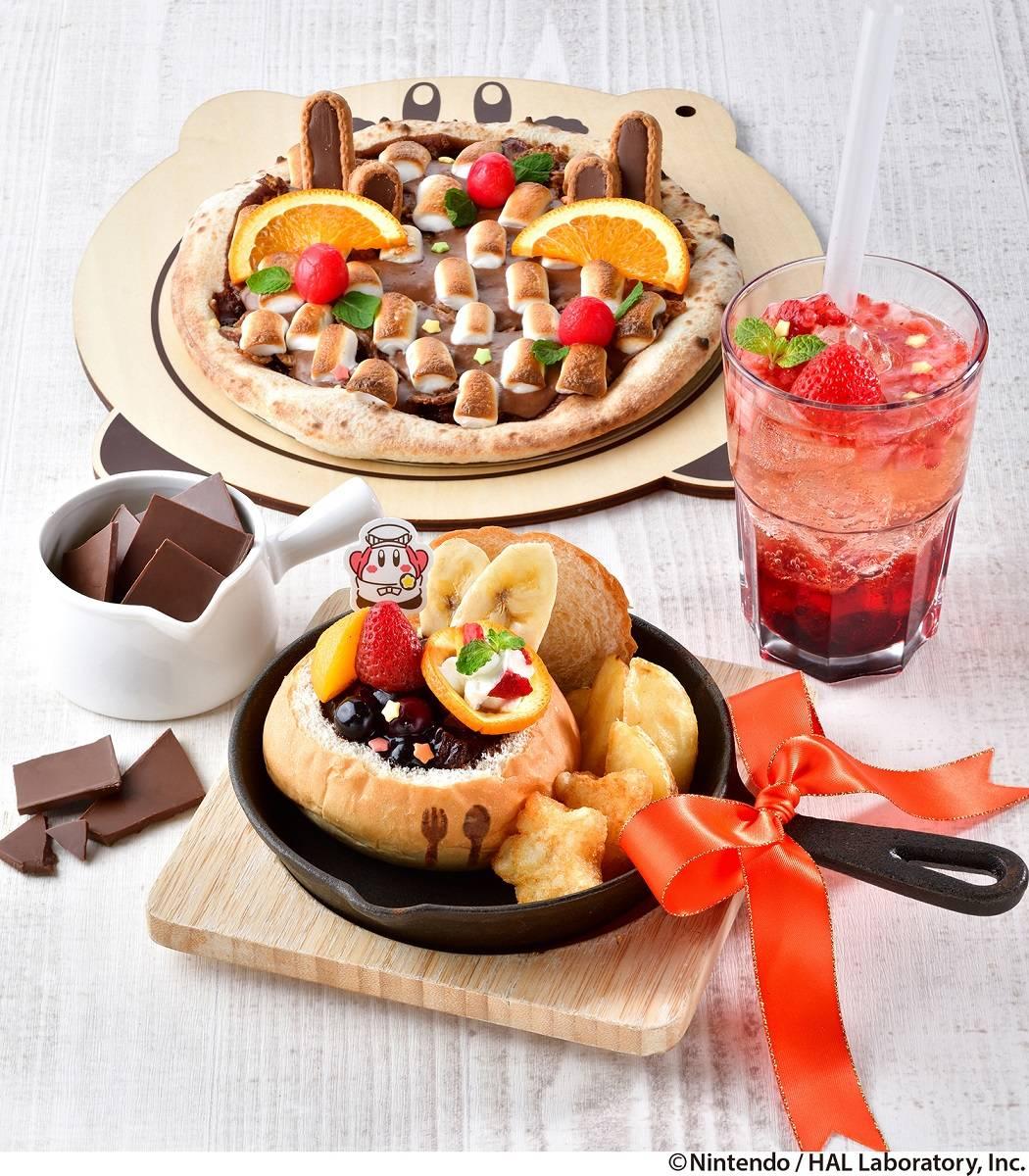 『星のカービィ』カフェに期間限定メニュー登場! チョコいっぱいのピッツァやパンシチューなど♪
