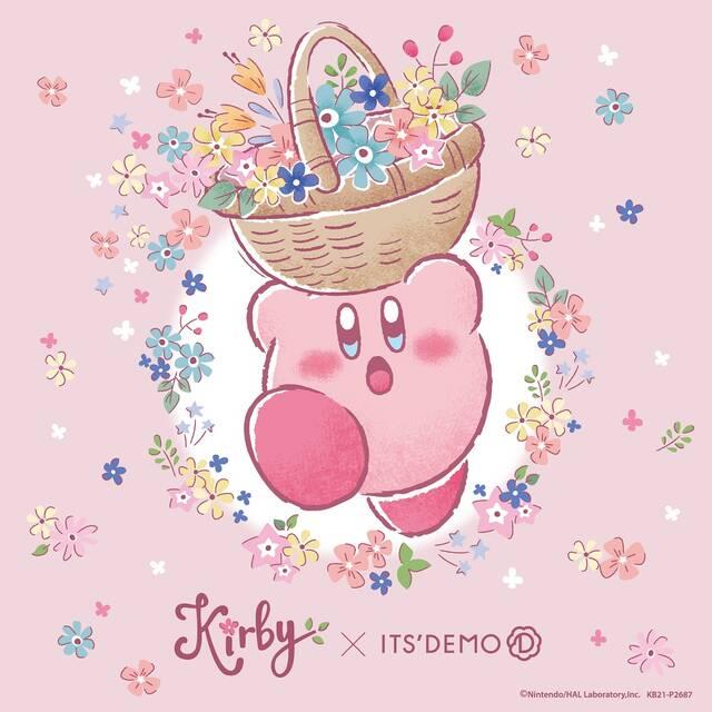 『星のカービィ』が「イッツデモ」とコラボ♪ 春を感じるお花&ギフト柄の雑貨や文具、コスメが登場♪