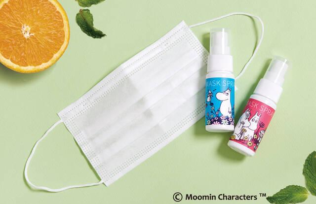 『ムーミン』マスクスプレー発売♪ 可愛いボトル&アロマの香りで癒される!