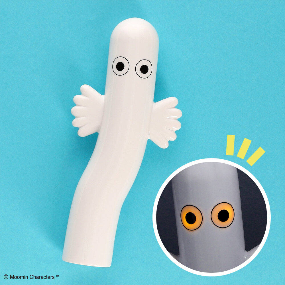 『ムーミン』ニョロニョロの目が光るモバイルバッテリー登場! 自立可能でインテリアにもおすすめ♪