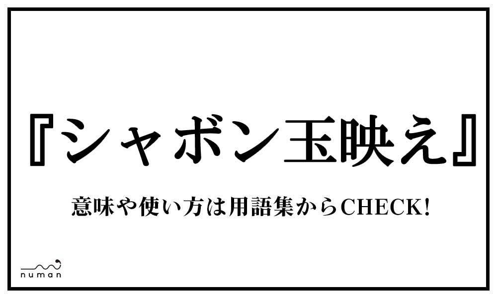 シャボン玉映え(しゃぼんだまばえ)