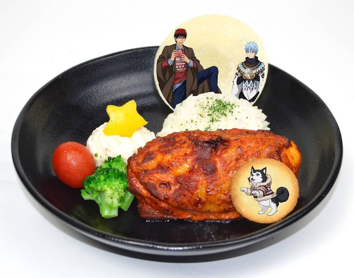 黒子と火神とテツヤ2号のクリスマスプレート (880円)