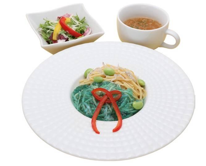 綾波レイ製パスタ 990円 ※サラダ、スープ付き